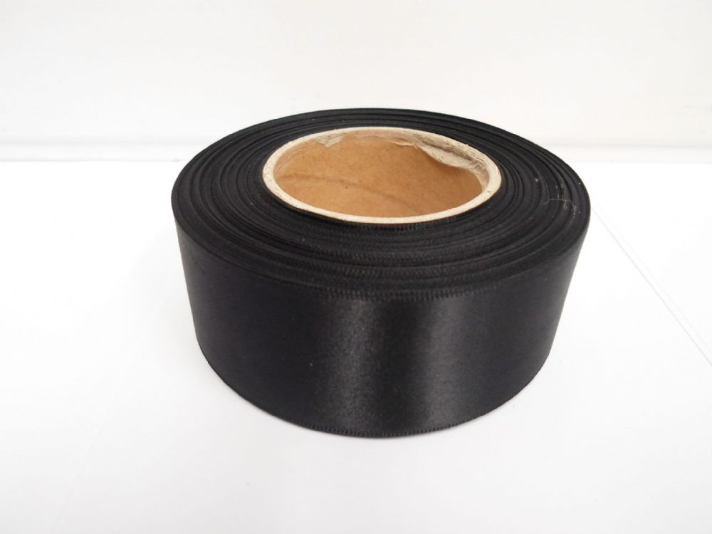 Black Satin Ribbon 2 10 Or 25 Metres Double Sided 3mm 7mm